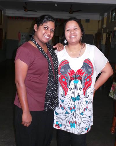 Shirley and her friend Monisha Visit
